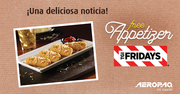 Free Appetizer con Friday's
